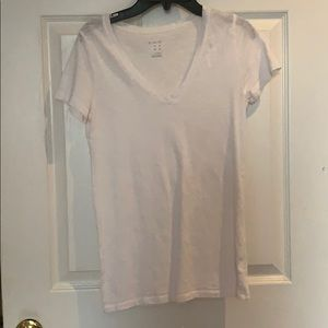 Plain white v neck
